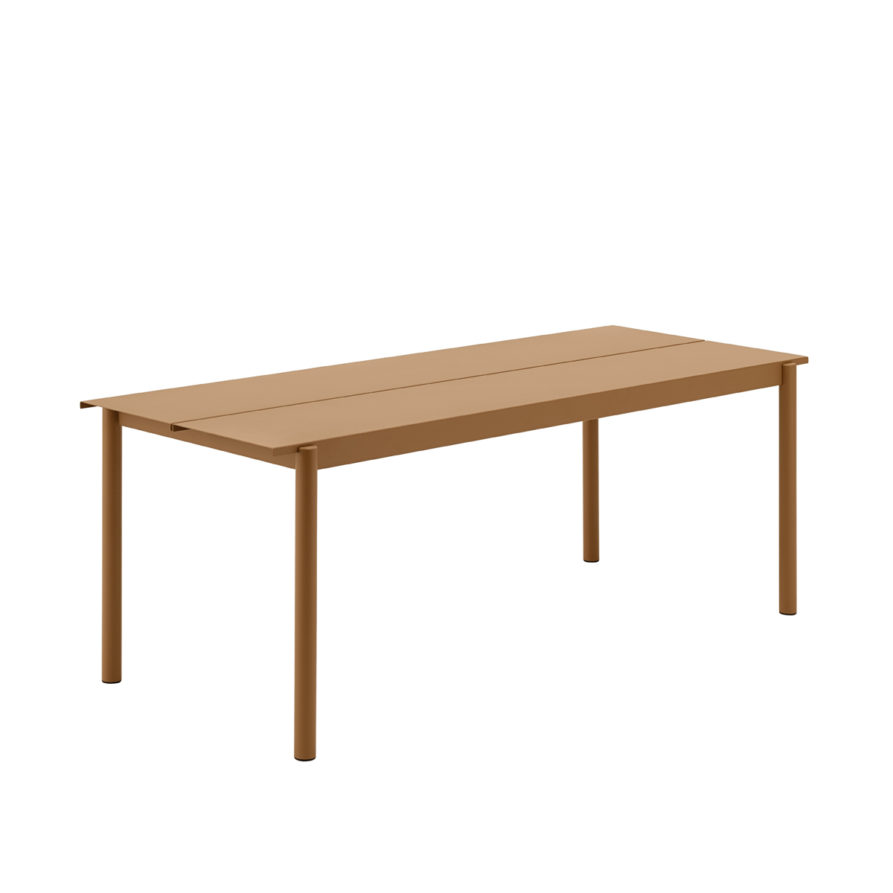 Linear-steel-outdoor-table-200-burnt-orange-Muuto-hi-res