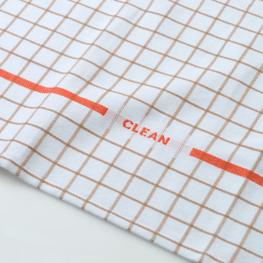 CROP_310527_Normann_Copenhagen_Ren_Tea_Towel_Grid_Sand_Spicy_Orange_02